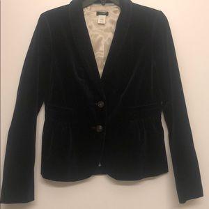 J Crew Velvet lined blazer , dark Navy SZ 6